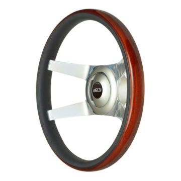 52-5377 GT9 Pro-Touring Wheel, Sport, Wood, Polished Spokes, Angle View - GT Performance
